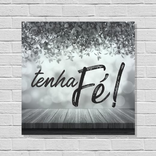 Foto destaque - Placa Tenha Fé!